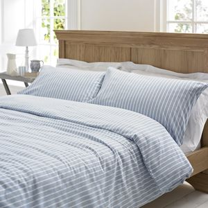 Salcombe Stripe Brushed Cotton Duvet Set - bed linen