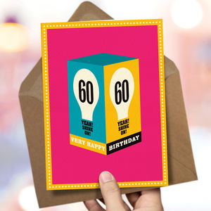 60th Birthday '60th Card' - 60th birthday cards
