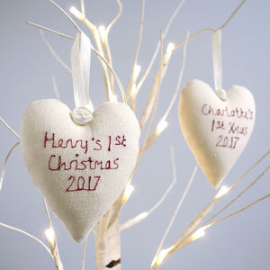 Personalised Heart Christmas Decoration - christmas decorations