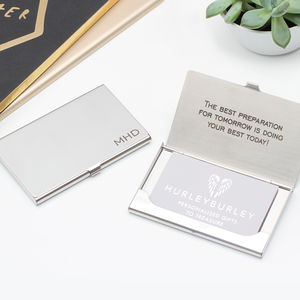 Personalised Polished Business Card Holder