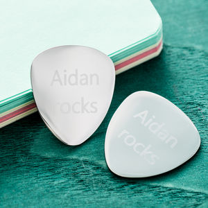 Personalised Guitar Plectrum - winter sale