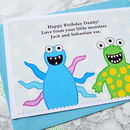 Personalised Birthday Card from children or grandchildren