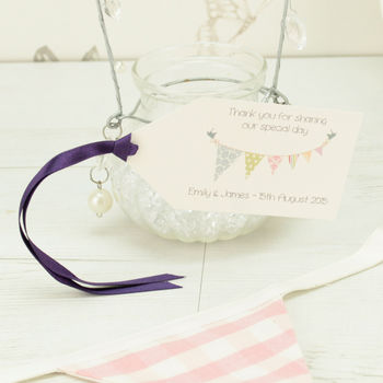 Personalised Bunting Favour Tag
