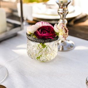 Grandma's Pressed Glass Tea Light Or Bud Vase - home accessories