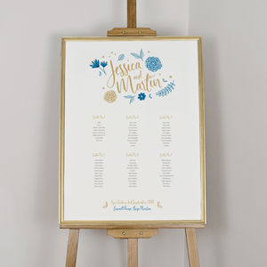Botanical Illustration Table Plan - room decorations