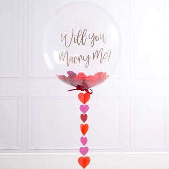 Personalised Marry Me Proposal Bubble Balloon