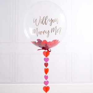 Personalised Will You Marry Me Confetti Balloon - room decorations