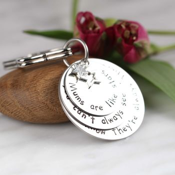 Personalised 'Mums Are Like Stars…' Keyring