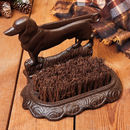 Antique Brown Cast Iron Dachshund Boot Brush