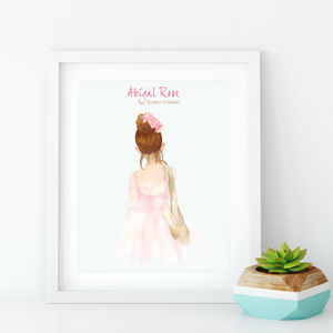 Personalised Queen Of Ballet Print