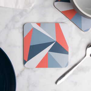 Coral Angles Coaster Set