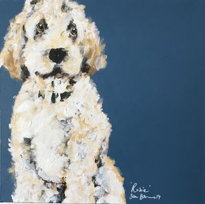 Your Dog, Hand Painted On Canvas