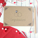 Diamond Ring Card, Personalised Engagement, Wedding