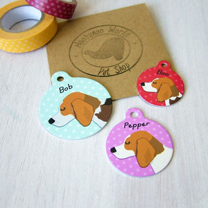 Beagle Personalised Pet ID Tag - dogs