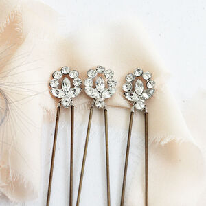 Swarovski Crystal Moon Hairpins