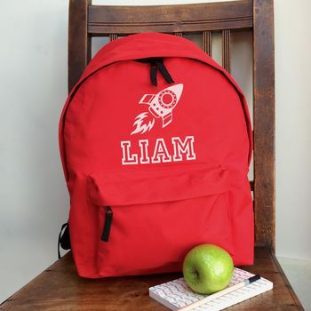 Personalised Rocket Rucksack All Colours