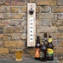 Personalised Upcycled Magnetic Bottle Opener
