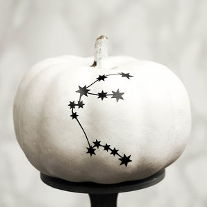 Personalised Zodiac Halloween Pumpkin Sticker