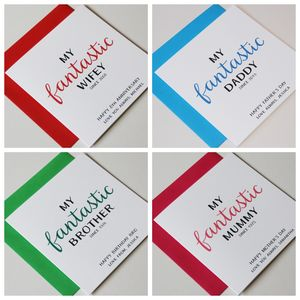 Personalised Occasions 'My Fantastic…' Greeting Card - cards