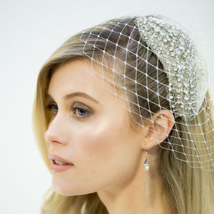 Isabella Jewelled Birdcage Veil - new in fashion