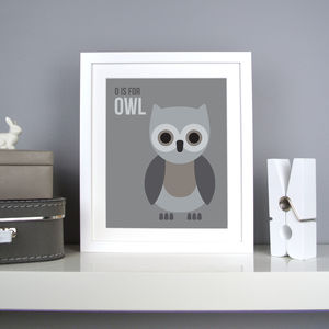 Personalised Owl Nursery Print