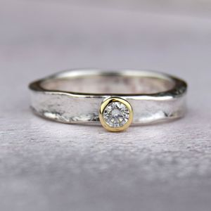 Designer Diamond Engagement Ring - rings