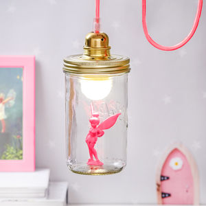 Neon Pink Fairy In A Jar Light - lighting