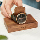 Personalised Walnut Watch Stand One To Three Watches