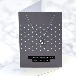 'I Have Something To Ask You…' Jewellery Card - be my maid of honour