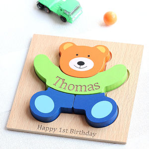 Personalised Teddy Puzzle - educational toys
