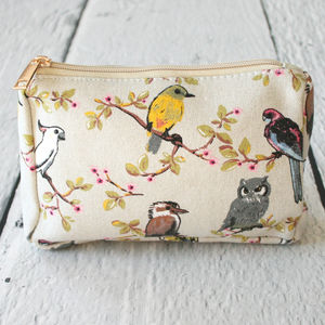 Hummingbird Print Make Up Bag - travel bags & luggage