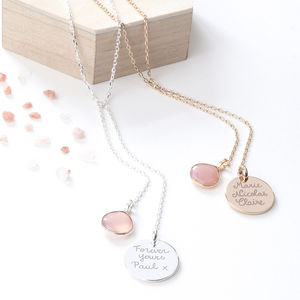 Personalised Lariat Gemstone Necklace - jewellery gifts for mothers