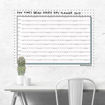 Fun Times Draw Every Day Planner 2018