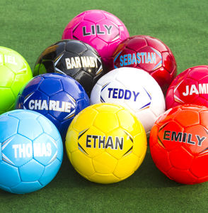 Personalised Football - half term activities