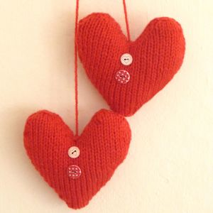 Valentine Love Hearts Knitting Pattern
