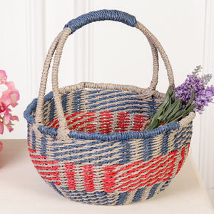 Summer Days Woven House Basket - storage & organisers