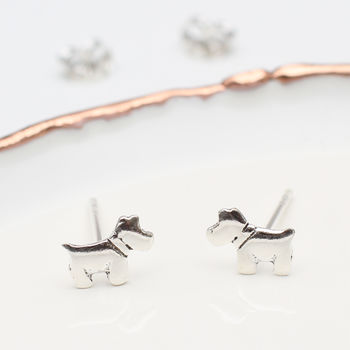 Sterling Silver Mini Scotty Dog Earrings