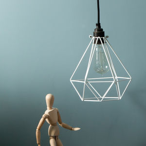 Diamond Light Cage Shade - ceiling lights