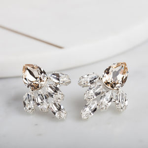 Crystal Pear Bridal Earrings