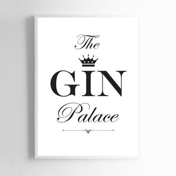 The Gin Palace Print Sign