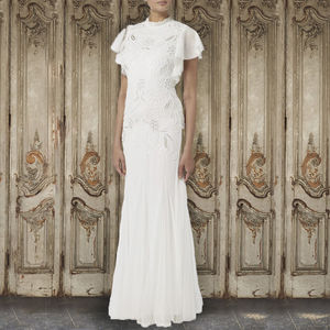 Embellishment Frilled Gown - wedding dresses