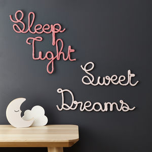 Sweet Dreams Or Sleep Tight Knit Sign - door plaques & signs