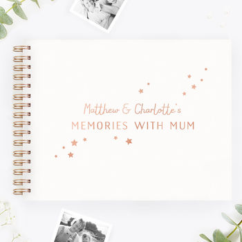 Personalised Mum Memory Scrap Book