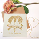 'Art Nouveau Doves' Wedding Card