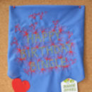 Embroidered 'Name' Art Handkerchief