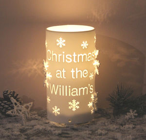 Personalised Christmas LED Battery Operated Light - children's lighting