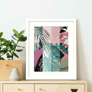Pink And Green Mixed Botanical Print