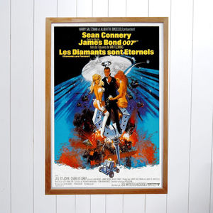 Original Diamonds Are Forever James Bond Film Poster