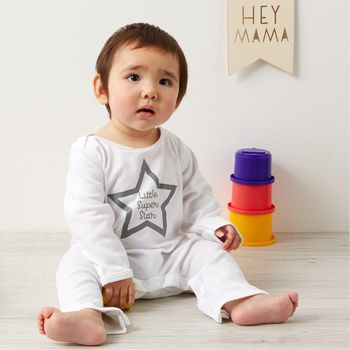 Personalised In Your Own Words Star Sleepsuit