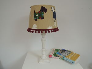 Handmade Dog Fabric Lampshade - pet-lover